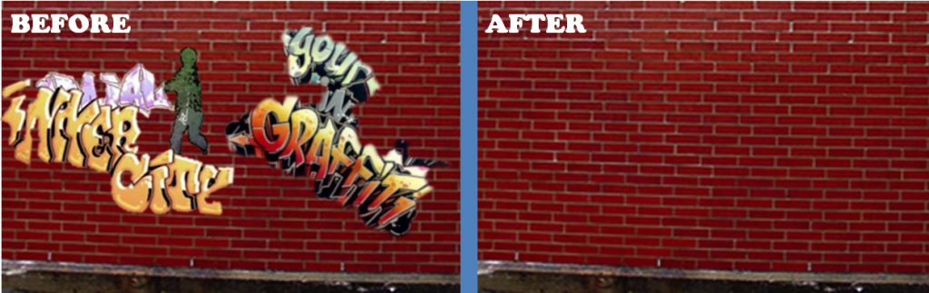 Lynnwood Graffiti Removal Before and After