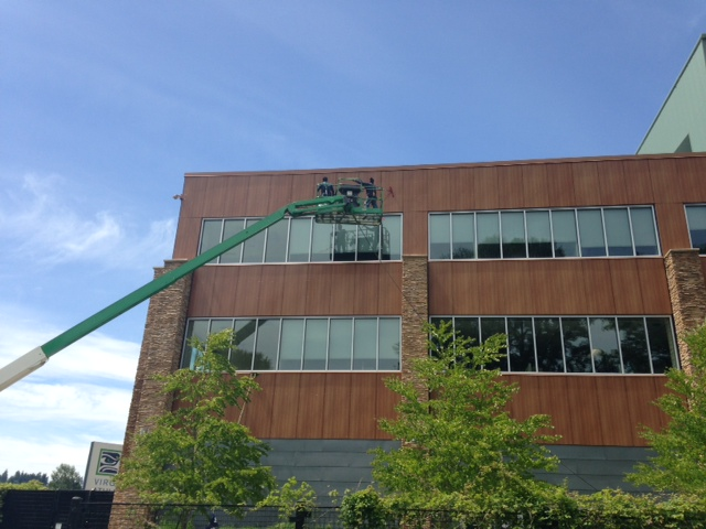 local business preps vmac with exterior building services