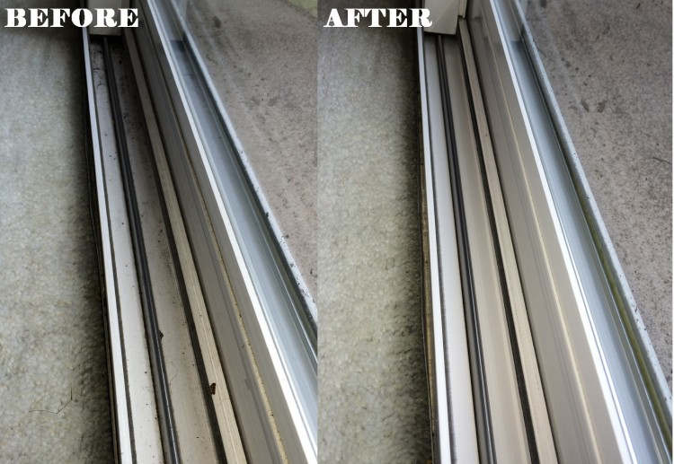 Window Track Before & After